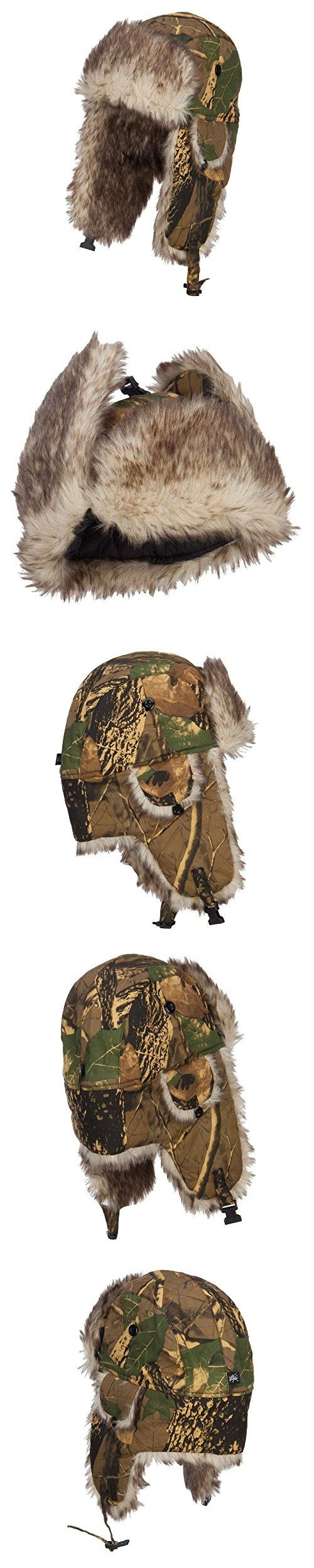 Camouflage Bomber Fur Trooper Hat - Maple OSFM