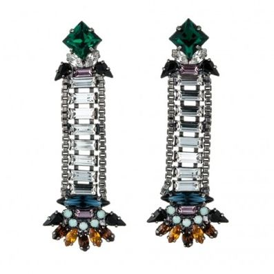Crystal Color Earrings Trend   The Zoe Report