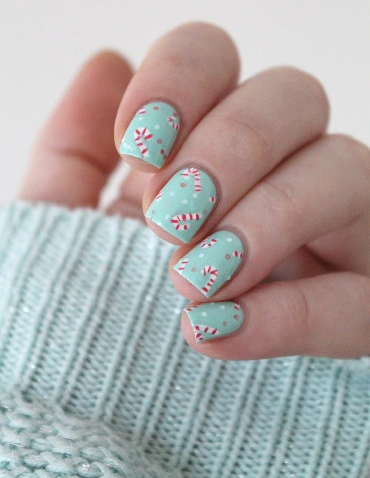 Best 25 candy cane nails ideas on pinterest christmas nail christmas candy cane nail art prinsesfo Choice Image