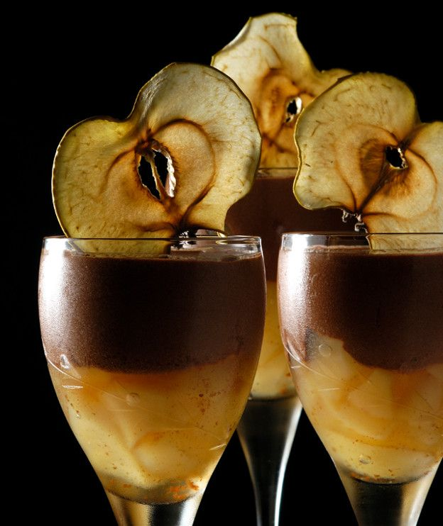 Μους σοκολάτας με μήλα