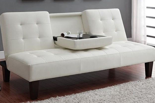 julia cupholder convertible futon sofa bed white leather and fabric best 25+ cheap couch ideas on pinterest | pallet ...
