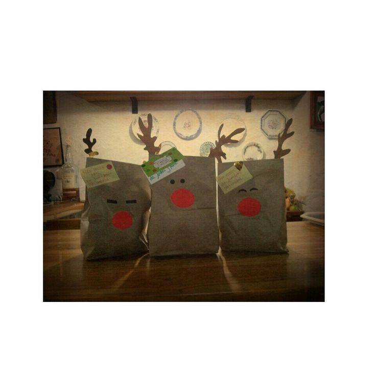 Deer Christmas bags