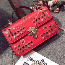 Стимпанк сумка винтажная сумка слинг клапаном женские дизайнерские сумки на ремне для женщин кожаные сумки заклепки Crossbody сумка 2017(China)