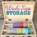 super creative washi tape storage box from @Michele {The Scrap Shoppe}!!