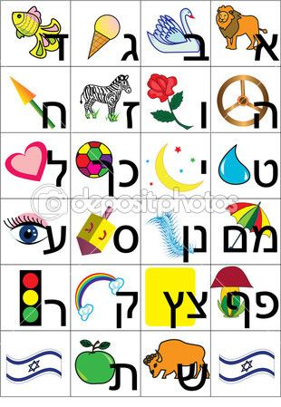 another Hebrew alphabet chart for kids