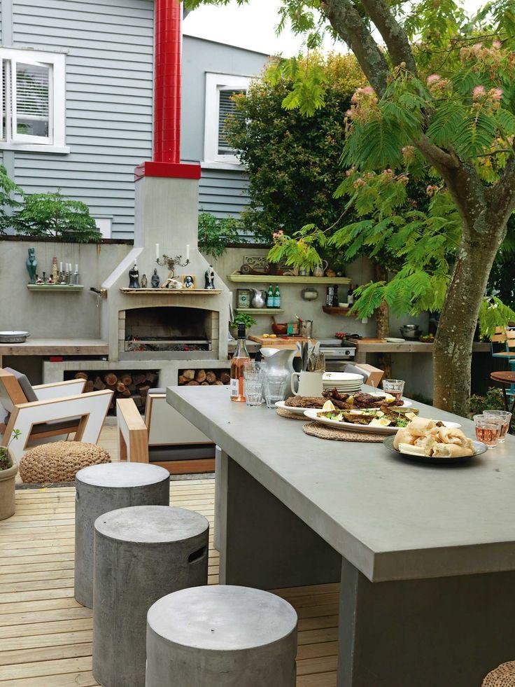 Chef Al Brown's outdoor kitchen.