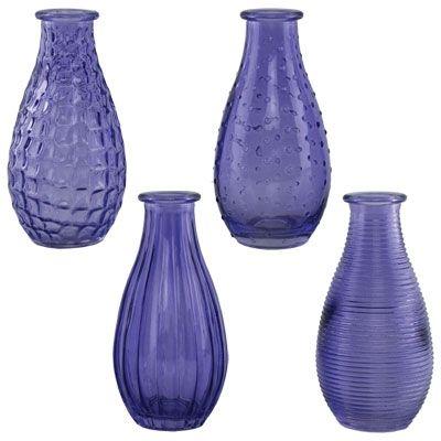 "5 1/2"" Vintage Purple Cafe Vases - Glass - 24pk"