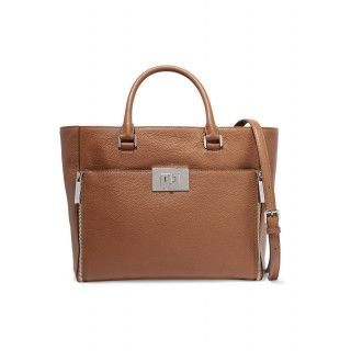 MICHAEL MICHAEL KORS Tan Large textured-leather tote