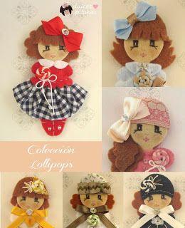 Colección Lollipops. Muñecas fieltro. Pilukas,
