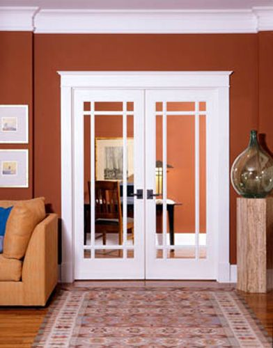 High Quality Interior MDF French Doors In Prairie Style