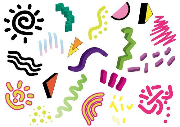 90's 80's Geometric Vector shapes ~ Shapes on Creative Market