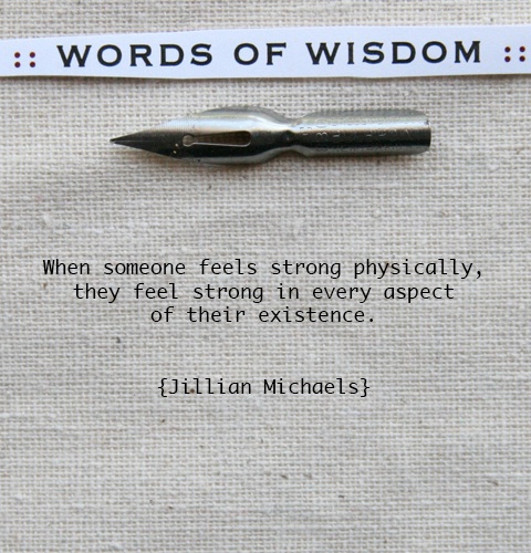 Words-of-wisdom From little beast-mode herself.