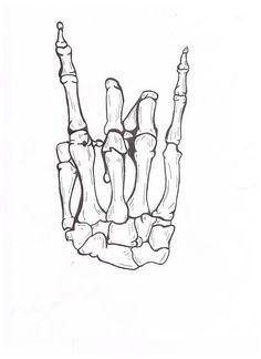 skeleton hand sketch tumblr - Google Search