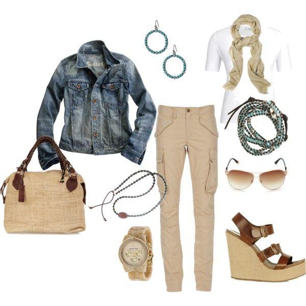 """""""classic denim jacket"""" with Ralph Lauren Cargo"""