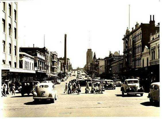 Russell St,Melbourne in 1950.