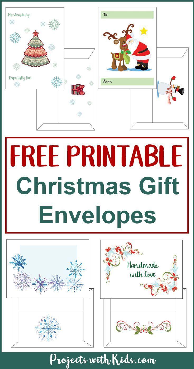 Free Printable Christmas Gift Envelopes Christmas Envelope Template Free Christmas Printables Christmas Envelopes