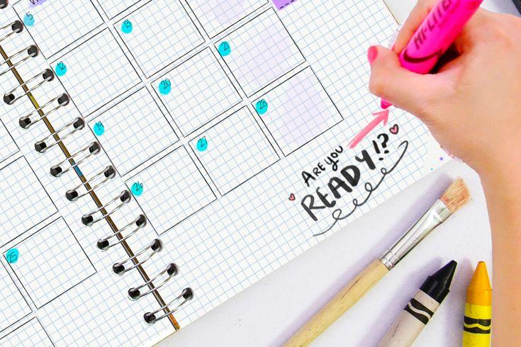 Crafty planner 2018, la agenda perfecta para ti que amas las cosas creativas, bullet journal, scrapbook, dibujar y más.