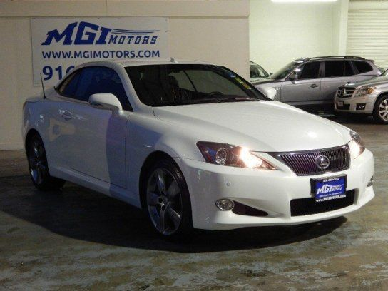 Convertible, 2010 Lexus IS 350C with 2 Door in Sacramento, CA (95815)