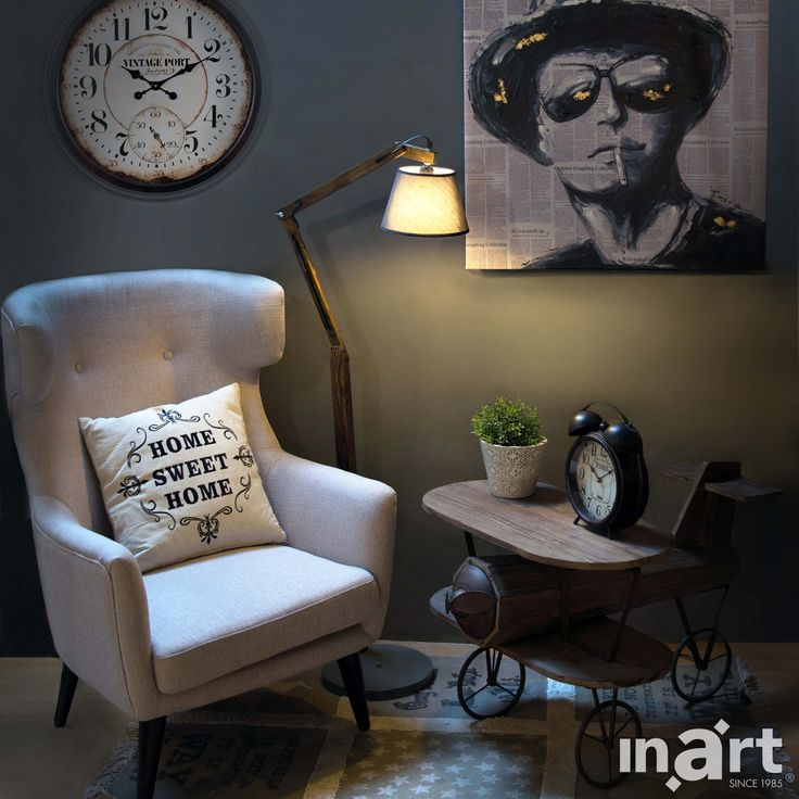 Industrial style by inart.com  There is nothing like staying at home for real comfort. #HomeDecor #Decor #Decoration #Deco