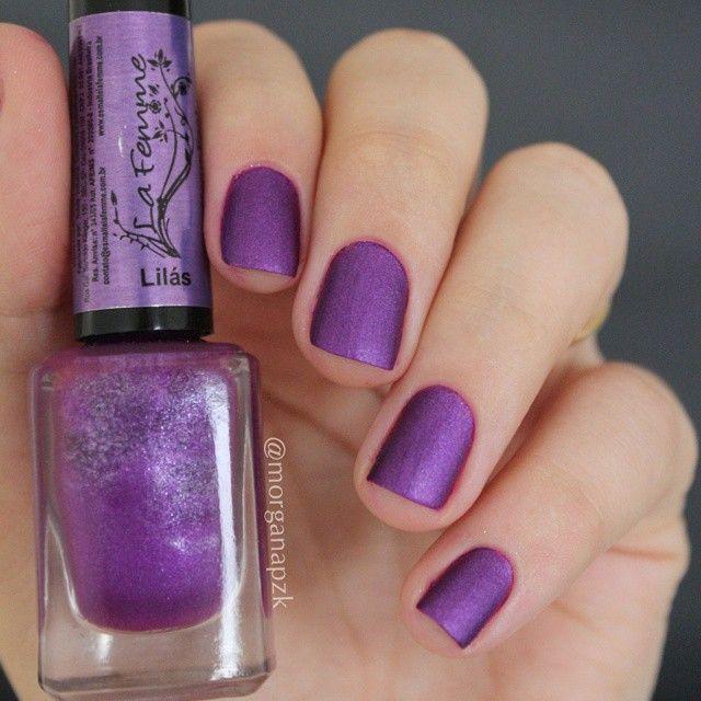 Lilás da La Femme   Fosco   Unhas Roxas Matte   Purple Nails   by @morganapzk