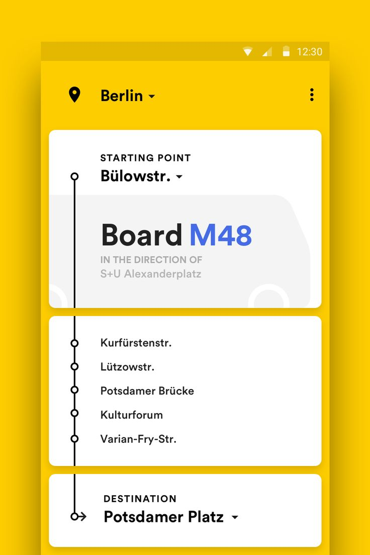 Public Transport for Android – MaterialUp
