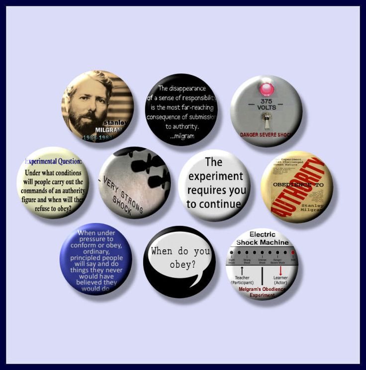 "MILGRAM Stanley Psychology obedience, compliance, conformity How Far Would You Go? 10 Hand Pressed Pinback 1"" Buttons Badges Pins by Yesware on Etsy"