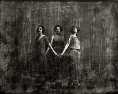 """hauntedbystorytelling: """"  Arnold Genthe :: Isadora Duncan dancers, Nitrate negative, New York. ca.1920 / source and high res link: Shorpy more [+] by this photographer """""""