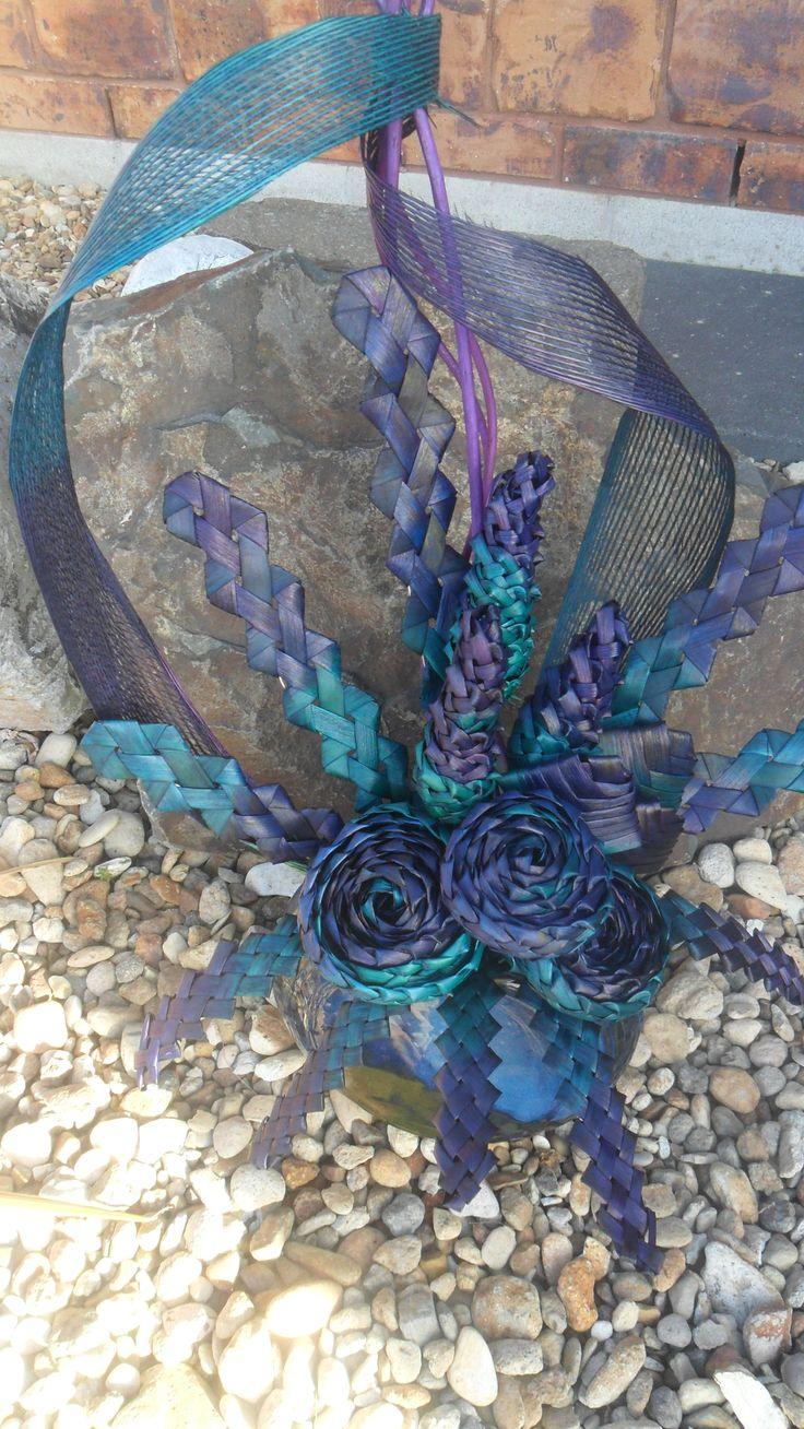 Flax flower arrangement