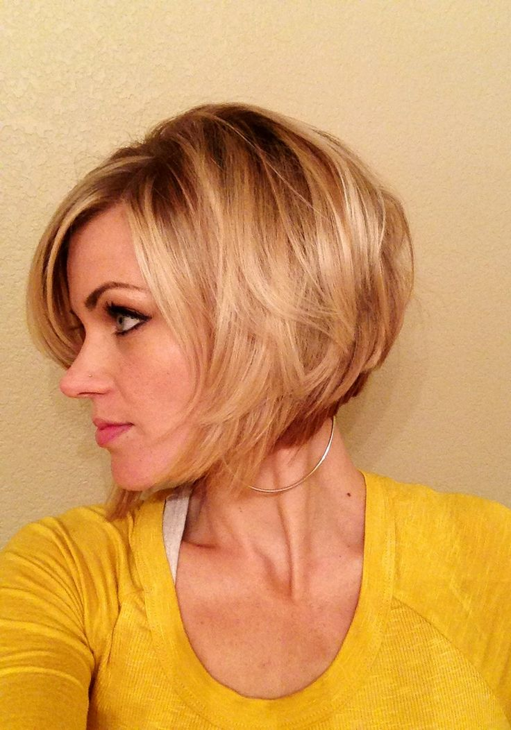 New hair! Inverted bob. Love having short hair