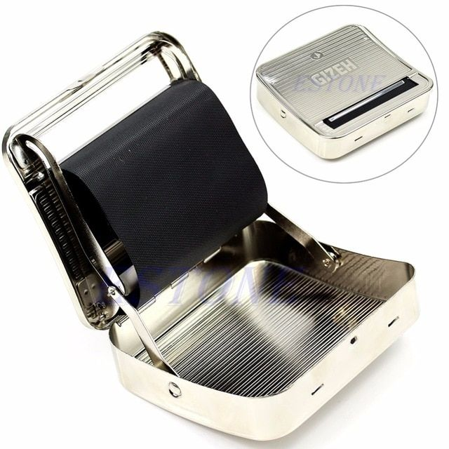 70mm Tobacco Rolling Box Metal Automatic Cigarette Smoking Roller Machine Z07 Drop Shipping Revi Tobacco Smoking Tobacco Pipe Accessories Unique Items Products