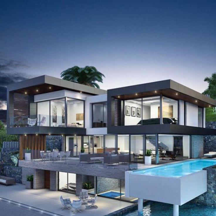 Billionaires on | future home | Pinterest | Modern mansion ...