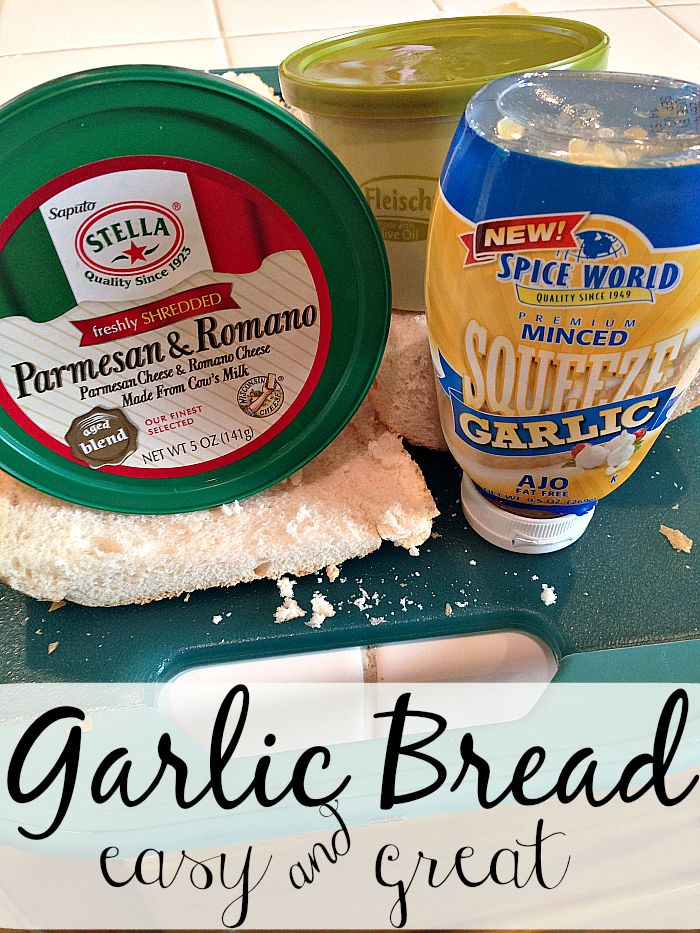 The BEST & EASIEST garlic bread recipe ever + a quick meatloaf recipe in here too!