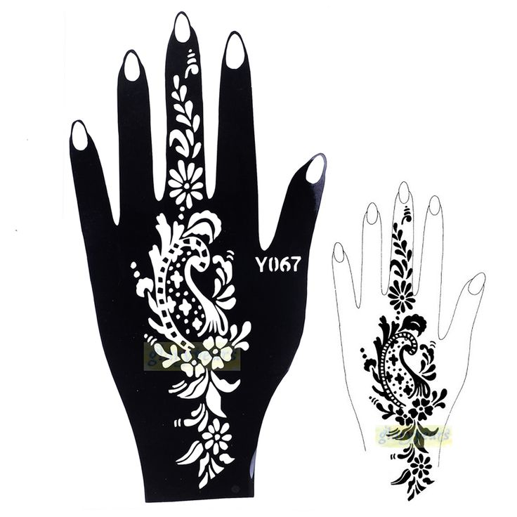 1pc Fine Indian Glitter Lace Template Disponsable Henna Temporary Tattoo Stencil Paste Sheet Paper Hot Girls In Daily Party Y067 #Affiliate