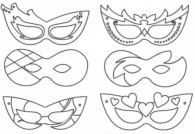 Varie Maschere Veneziane Da Colorare Per Bambini Per Carnevale