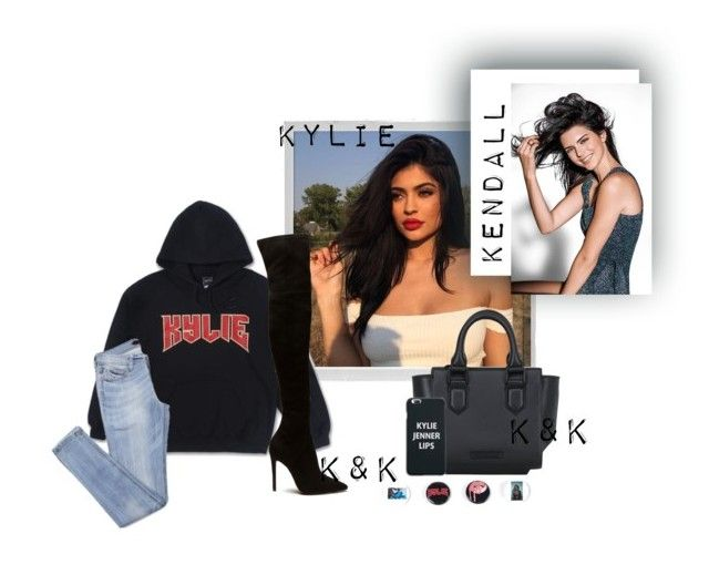 """K&K   KYLIE   Sisters"" by kydajenner on Polyvore featuring mode, Polaroid, Kendall + Kylie, kendalljenner, KylieJenner en kendallandkylie"