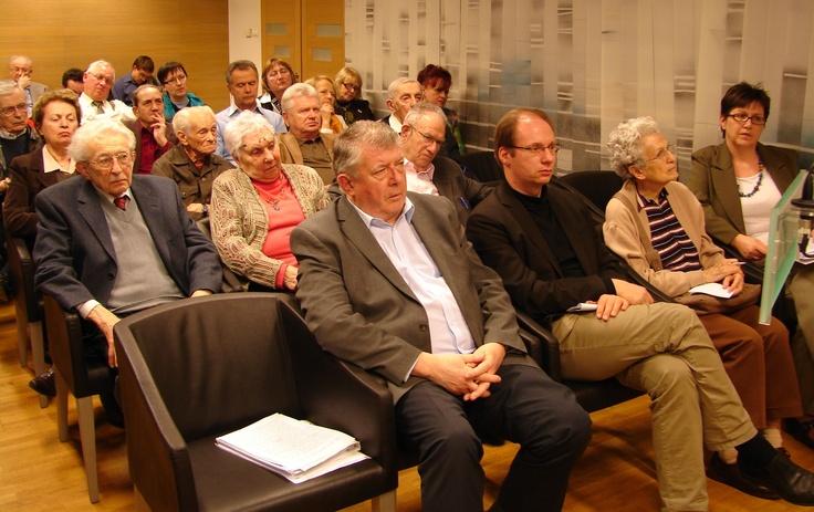 Az Anschluss konferencia résztvevői  Audience of the Anschluss conference at the Holocaust Memorial Center Budapest