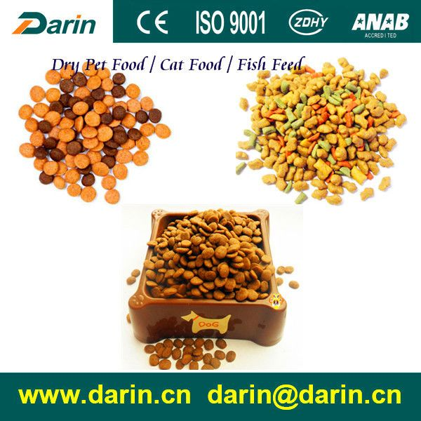 Extruded automatic continuous pet food fish feed pellets snacks food manufacturing extruder machines process line