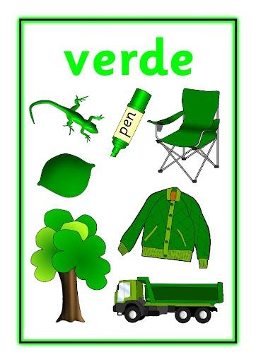 Activipeques: Los colores  Verde