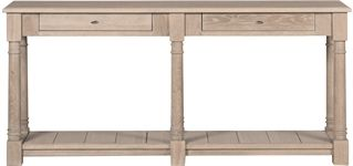 Console Tables - Painted, Oak & Glass   Neptune