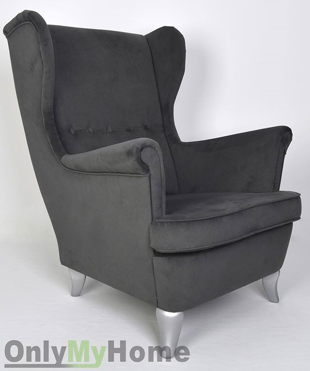 Fotel Uszak na srebrnych nóżkach w tkaninie casablanca  _______________________ #Fotel #Uszak #foteluszak #uszatek #foteldokarmienia #doczytania #wygodny #na #zamowienie #darmowadostawa #design #inspiration #interior #interior4you #hello #goodday  #onlymyhome @onlymyhome.pl