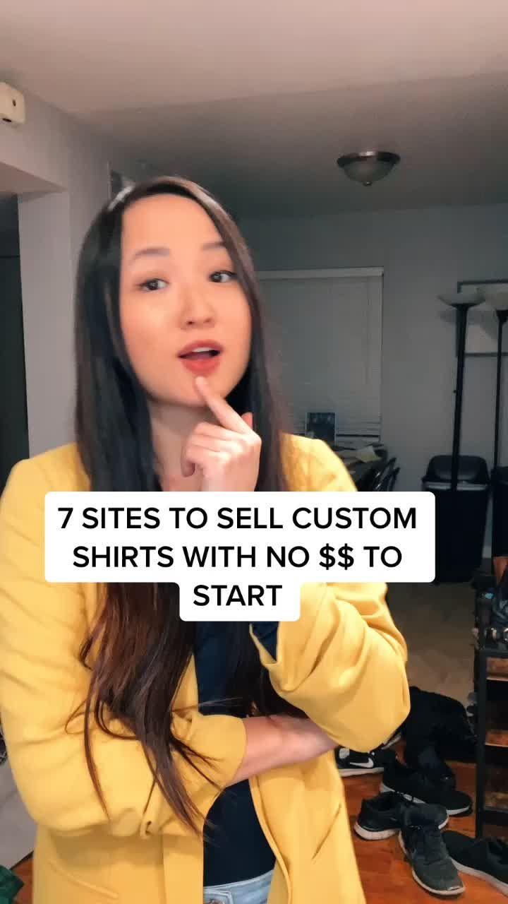 Sharon Tseung Sharontseung On Tiktok Wanna Start Selling Custom Shirts Here Y Successful Business Tips Small Business Planner Small Business Inspiration