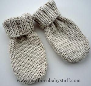 Baby Knitting Patterns Little Baby Mittens. I would knit in the round. Also the pat...
