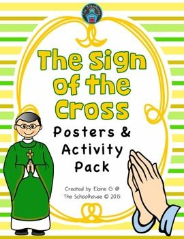This is a large pack for the Sign of the Cross prayer for early learners.  There are posters and activities to help kids learn how to properly pray the Sign of the Cross.  Theres 32 pages with a Table of Contents to easier find each of the printables.Included in this pack are.Posters for the Sign of the Cross in color and b&w5 worksheets with answer keys (dot-to-dot, cut & paste, matching, and more)Posters for how to pray the Sign of the Cross in color and b&wMemory match/concentr...
