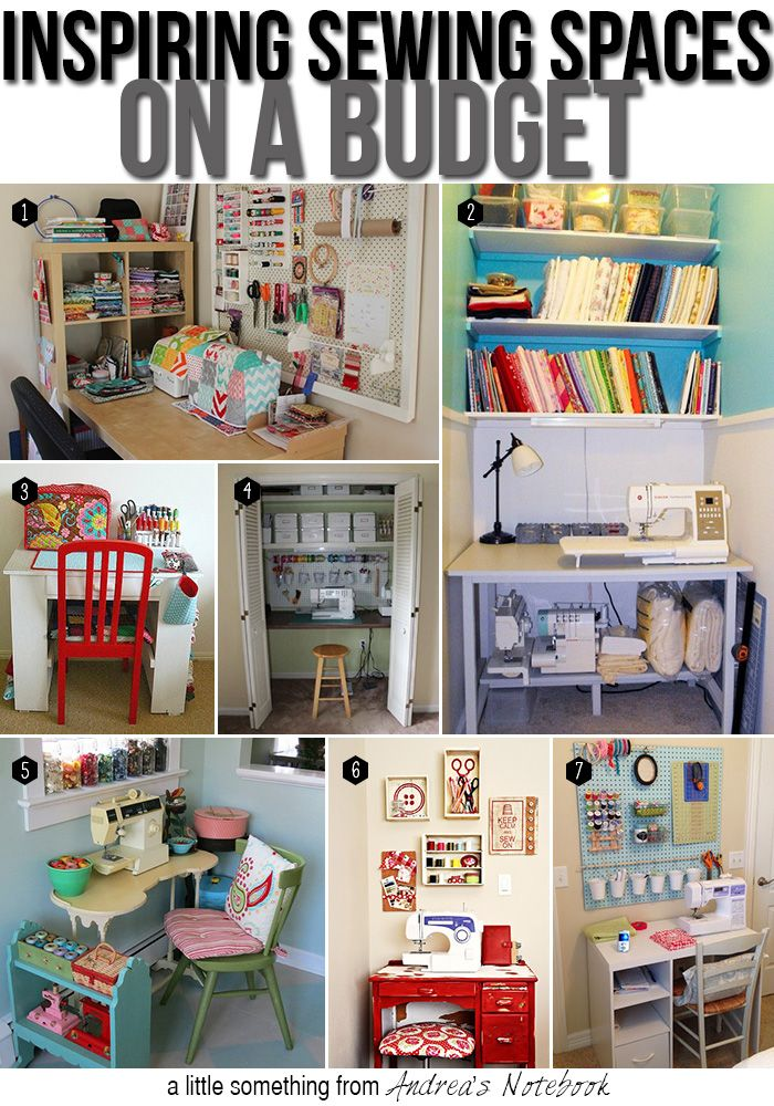 Create a sewing space on a budget.
