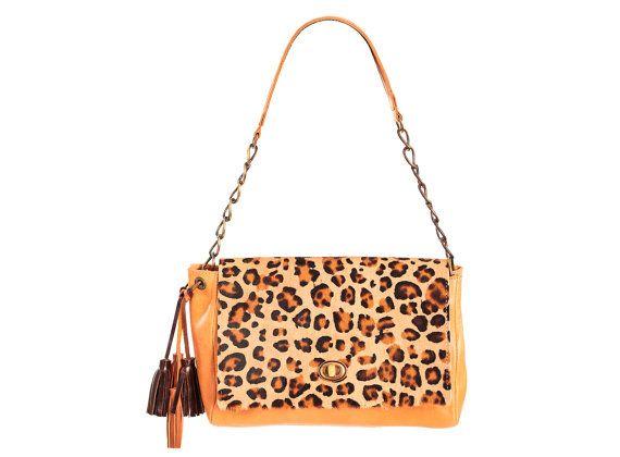 Leopard print purse animal print bag leopard printed by Percibal