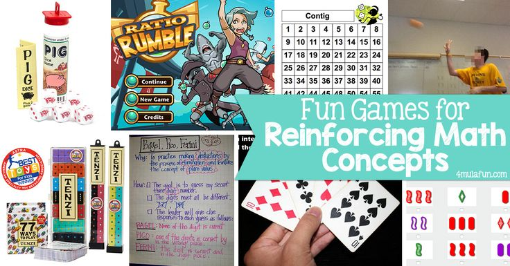 Fun Games for Reinforcing Math Concepts
