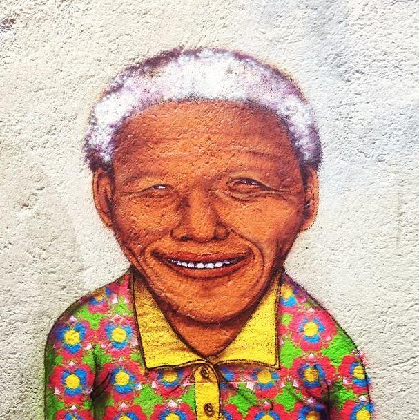 OS GEMEOS FOR NELSON MANDELA