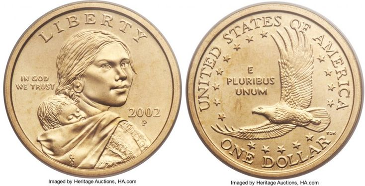 """2002 P Sacagawea Dollar Value is $1 circulated coins. If the coin is uncirculated and not certified they're worth $1.25 to $2. If graded MS67 by either PCGS or NGC they're worth $5 and in MS68 they're worth $30. Sacagawea and Native American dollars are called """"golden"""" but they're not made of gold; their alloy …"""