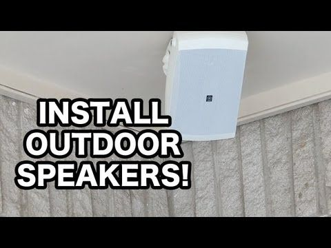 John P walks through every step of a Yamaha outdoor speaker installation with the help of the Sonos PlayAmp