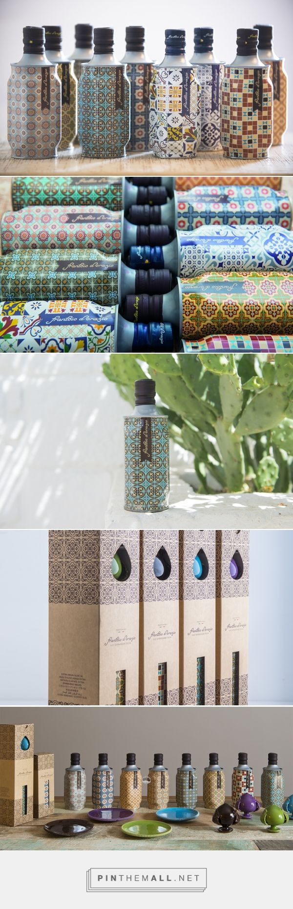 Nice patterns! Mediterranean Collection Olive Oil packaging design by Cream studio - http://www.packagingoftheworld.com/2016/11/mediterranean-collection-olive-oil.html